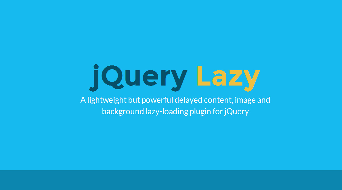 jQuery Lazy - Delayed Content, Image and Background Lazy Loader